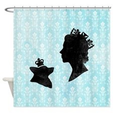 Queen and Corgi - Shower Curtain
