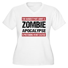 ZOMBIE APOCALYPSE - The hardest part Plus Size T-S