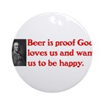Ben Franklin Beer Quote.psd Ornament (Round)