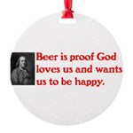 Ben Franklin Beer Quote.psd Ornament