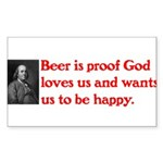 Ben Franklin Beer Quote.psd Sticker