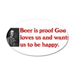 Ben Franklin Beer Quote.psd Wall Decal