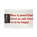 Ben Franklin Beer Quote.psd Rectangle Magnet (100