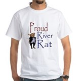 Proud River Rat Poker Ash Grey T-Shirt