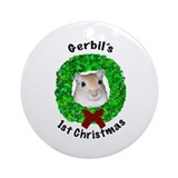 Gerbil's 1st Christmas Ornament