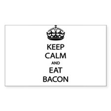 Keep Calm Eat Bacon Bumper Stickers