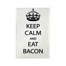 Keep Calm Eat Bacon Rectangle Magnet