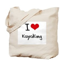 I Love Kayaking Tote Bag