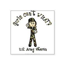 Light Army Veteran Rectangle Sticker