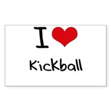I Love Kickball Decal
