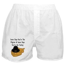 Thanksgiving Turkey Jokes Boxer Shorts