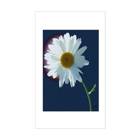 Daisy Rectangle Sticker