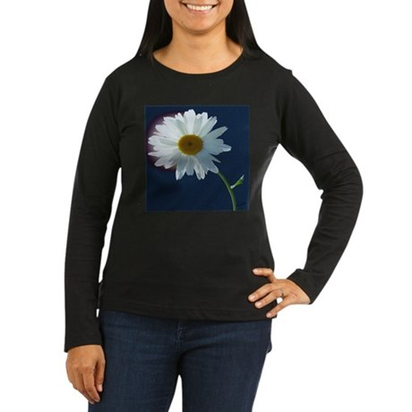 Daisy Women's Long Sleeve Dark T-Shirt