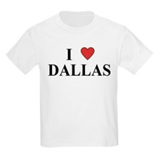I Love Dallas Kids T-Shirt