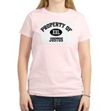 Property of Justus Women's Pink T-Shirt