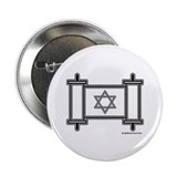 Star Of David Torah Scroll Button