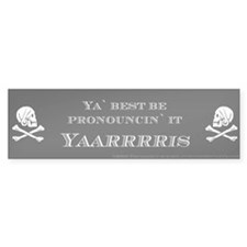Yaris Pirate Bumper Bumper Sticker