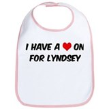 Heart on for Lyndsey Bib