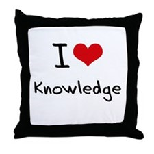 I Love Knowledge Throw Pillow