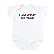 Heart on for Leland Infant Bodysuit