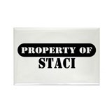 Property of Staci Rectangle Magnet (100 pack)