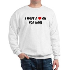 Heart on for Karl Sweatshirt