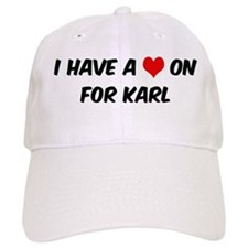 Heart on for Karl Baseball Cap