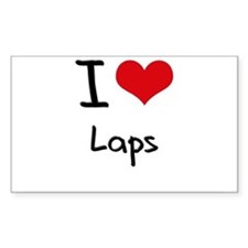 I Love Laps Decal