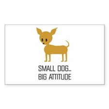 CHIHUAHUA ATTITUDE Rectangle Decal