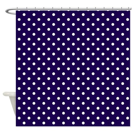 dots bathroom d cor navy blue with white dots shower curtain