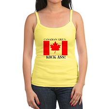 canadian girls kick ass logo on Tank Top