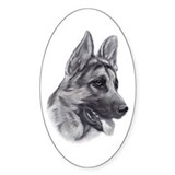 German Shepherd Oval Decal