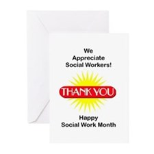 Social Work Appreciation Greeting Cards (Package o