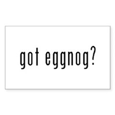 Got Eggnog? Rectangle Decal