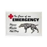 Please Rescue Weimaraner Rectangle Magnet (10 pack