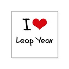 I Love Leap Year Sticker