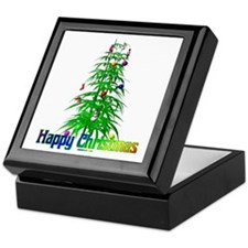Stoner Christmas Tree Keepsake Box