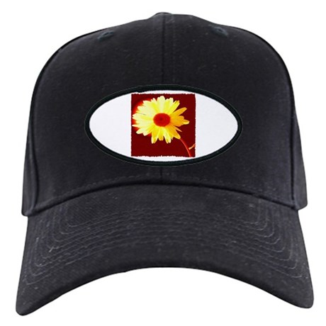 Hot Daisy Black Cap