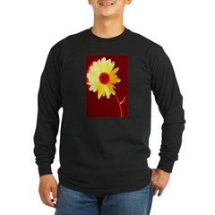 Hot Daisy Long Sleeve Dark T-Shirt