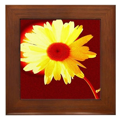 Hot Daisy Framed Tile