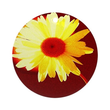 Hot Daisy Ornament (Round)