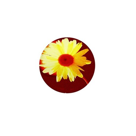 Hot Daisy Mini Button (100 pack)