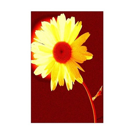 Hot Daisy Mini Poster Print