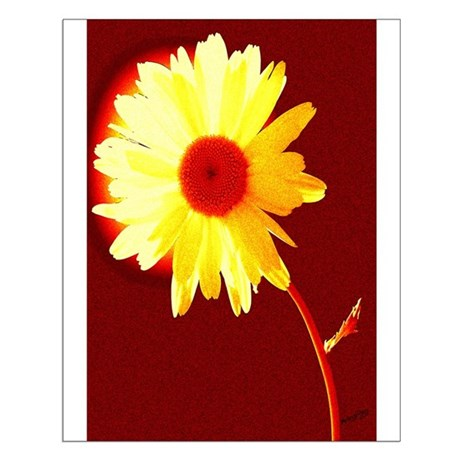 Hot Daisy Small Poster