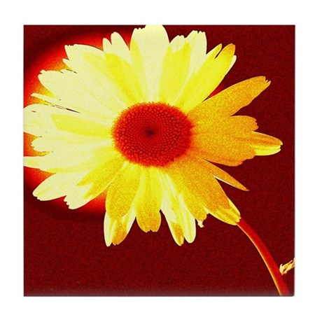 Hot Daisy Tile Coaster