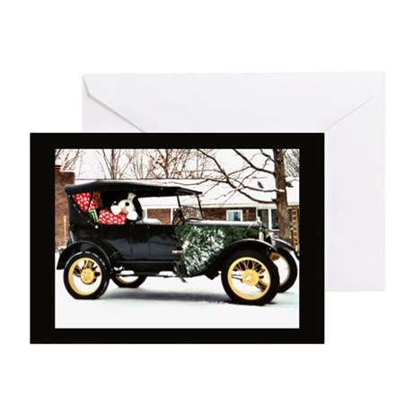 Christmas Antique Car Greeting Cards (Pk of 10)