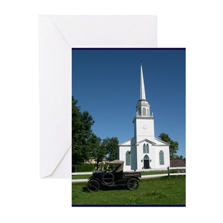 Church Antique Truck Greeting Cards (Pk of 10)