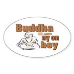 Buddha Oval Sticker