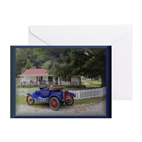 Country Home Antique Car Greeting Cards (Pk of 10)