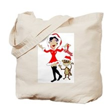 Holly Girl & Monkey Tote Bag